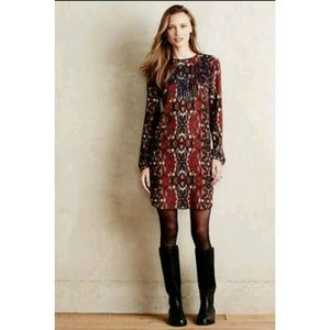 New Anthropologie Somer Embroider Tunic Dress